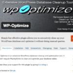 wordpressをクリーンアップするプラグイン「WP-Optimize」